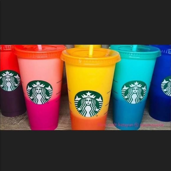Starbucks Other - STARBUCKS Color Changing Cups
